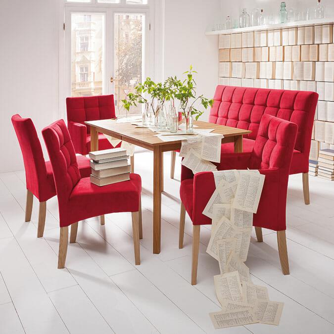 esszimmer set top esszimmer bahirah in braun kunstleder. Black Bedroom Furniture Sets. Home Design Ideas