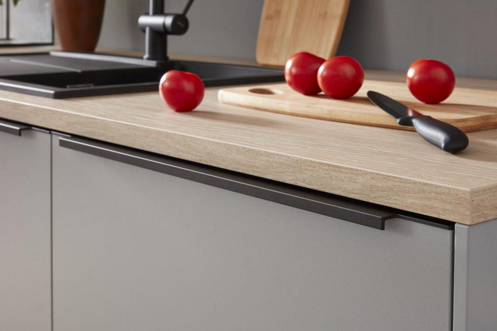 3D Küchenplaner, Arbeitsplatte, Holz, Fronten, Auswahl
