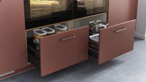 3D Küchenplaner, Fronten, Schubladen, rot, Auswahl