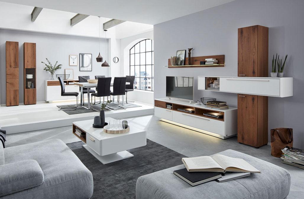 Modernes Wohnzimmer der Marke Interliving bei Möbel Busch.